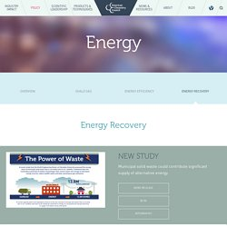 Energy Recovery from Plastics