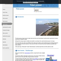 Energy Resources: Tidal power
