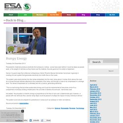 ESA - The Energy Saving Assocation - Bumpy Energy