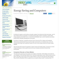 Energy Saving and Computers