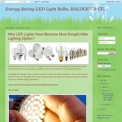 Energy Saving LED Light Bulbs, HALOGEN & CFLs: Why LED Lights Have Become Most Sought After Lighting Option?