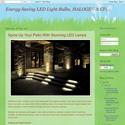 Energy Saving LED Light Bulbs, HALOGEN & CFLs: Spice Up Your Patio With Stunning LED Lamps
