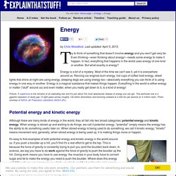 Energy science - An introduction to energy and how we use it