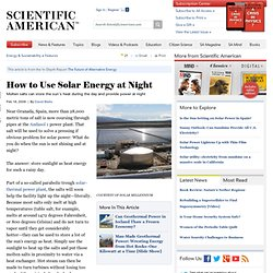 How to Use Solar Energy at Night
