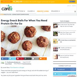 Energy Snack Balls For When You Need Protein On The Go