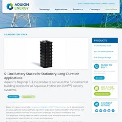 Aquion S10 Battery Stack