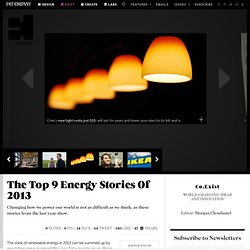 The Top 9 Energy Stories Of 2013