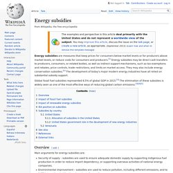 Energy subsidies - Wikipedia