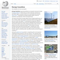 Energy transition