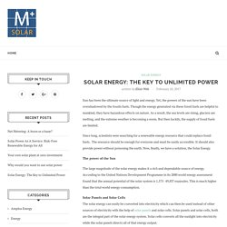 Solar Energy: The Key to Unlimited Power – Amplus Knowledge Center
