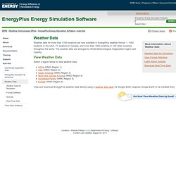 Plus Energy Simulation Software: Weather Data