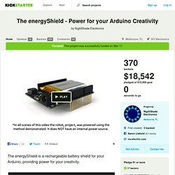 The energyShield - Power for your Arduino Creativity by NightShade Electronics