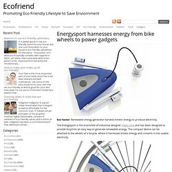 Energysport harnesses energy from bike wheels to power gadgets