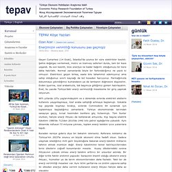 Türkiye Ekonomi Politikaları Araştırma Vakfı | Enerjimizin verimliliği konusunu pas geçmişiz