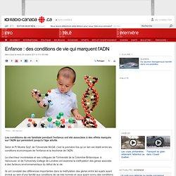 Enfance : des conditions de vie qui marquent l'ADN