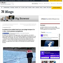 La photo d'un enfant mort sur une plage turque à la «une» de la presse européenne