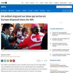 Un enfant migrant sur deux qui arrive en Europe disparaît dans les 48h