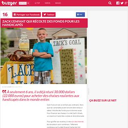 Zack l'enfant qui récolte des fonds pour les handicapés