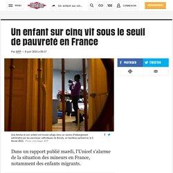 Un enfant sur cinq vit sous le seuil de pauvreté en France