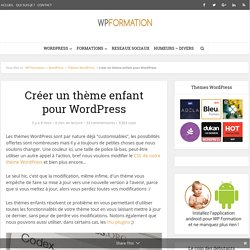 Thème enfant WordPress, le créer simplement !