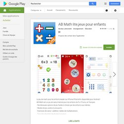 AB Math lite,jeux pour enfants – Applications Android sur Google Play