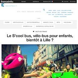 Le S'cool bus, vélo-bus pour enfants, bientôt à Lille ? - France 3 Hauts-de-France