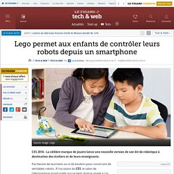 Lego permet aux enfants de contrôler leurs robots depuis un smartphone