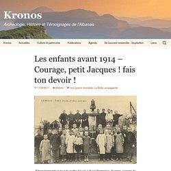 Les enfants avant 1914 – Courage, petit Jacques! fais ton devoir!