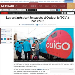Les enfants font le succès d'Ouigo, le TGV à bas coût