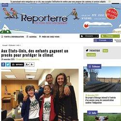 Aux Etats-Unis, des enfants gagnent un procès pour protéger le climat