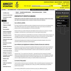 Enfants et droits humains