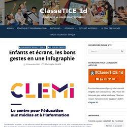 Enfants et écrans, les bons gestes en une infographie – ClasseTICE 1d