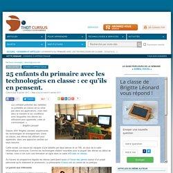 25 enfants du primaire avec les technologies en classe : ce qu'ils en pensent.