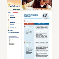 Enfants Avertis - Les 5 principaux dangers sur internet