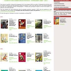 La Revue des livres pour enfants, sommaires des anciens numéros