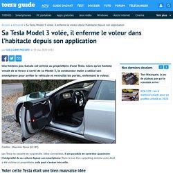Sa Tesla Model 3 volée, il enferme le voleur dans l'habitacle depuis son application