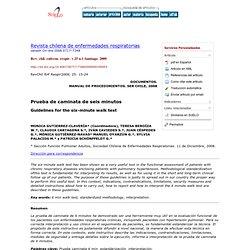 Revista chilena de enfermedades respiratorias - Prueba de caminata de seis minutos
