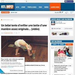 Un bébé tente d'enfiler une botte d'une manière assez originale… (vidéo) - RTL People