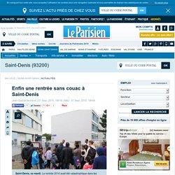 le Parisien : Enfin une rentrée sans couac à Saint-Denis
