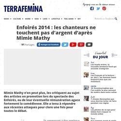 Enfoirés 2014 : les chanteurs ne touchent pas d'argent d'après Mimie Mathy