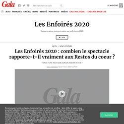 Les Enfoirés 2020: combien le spectacle rapporte-t-il vraiment aux Restos du...
