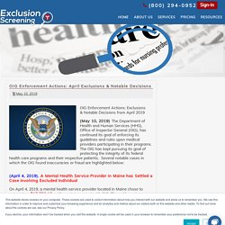 OIG Exclusion Check