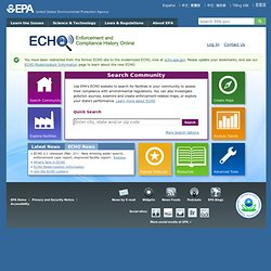 U.S. EPA Enforcement & Compliance History Online (ECHO) Database