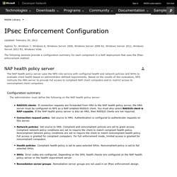 IPsec Enforcement Configuration