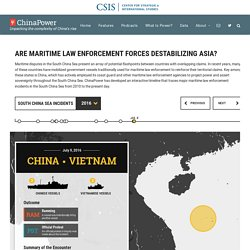 Are maritime law enforcement forces destabilizing Asia?