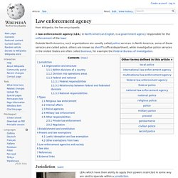 Law enforcement agency