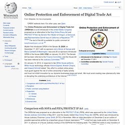 Online Protection and Enforcement of Digital Trade Act