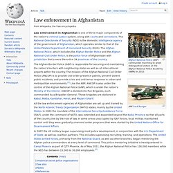 Law enforcement in Afghanistan
