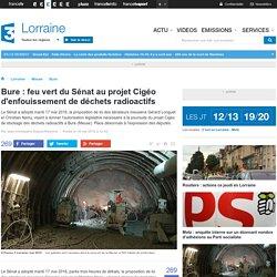 Bure : feu vert du Sénat au projet Cigéo d'enfouissement de déchets radioactifs - France 3 Lorraine