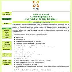 ENFP et travail